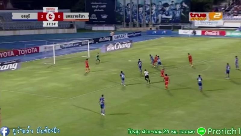 ชลบุรี เอฟซี -vs- นครราชสีมา มาสด้า เอฟซี GOALS