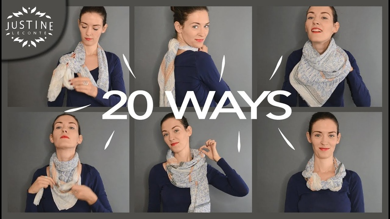 20 ways to wear a scarf how-to tips | Justine Leconte