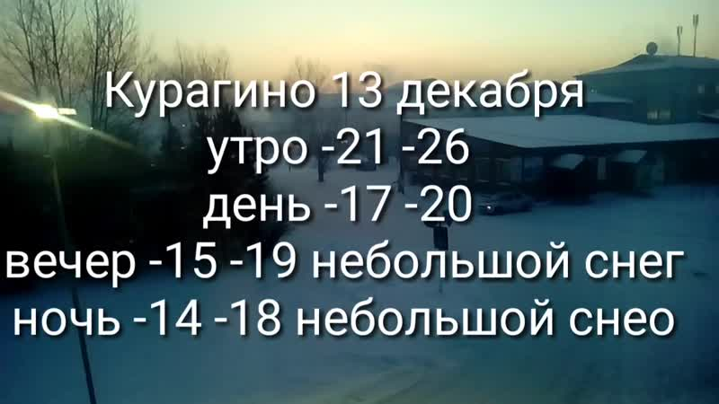 Погода 13.12