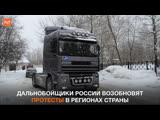 Дальнобойщики россии возобновят протесты в регионах страны