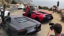 Lamborghini Reventon Murcielago epic canyon drive Fly by and huge flames