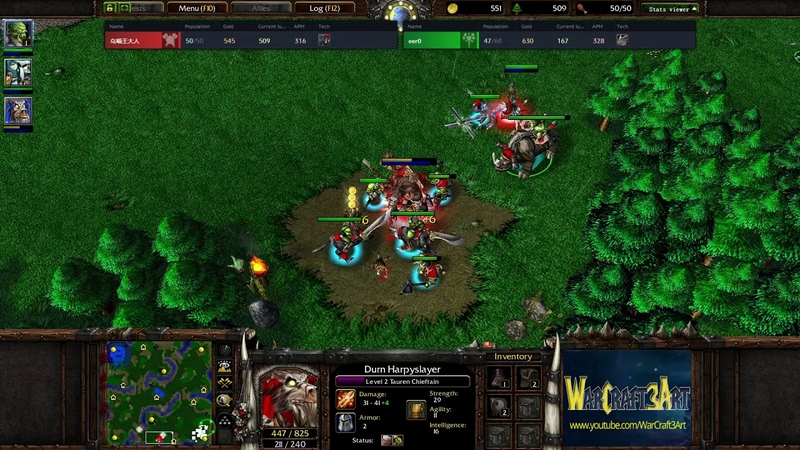 Fly(ORC) vs 120(UD) - WarCraft 3 Frozen Throne - RN3563
