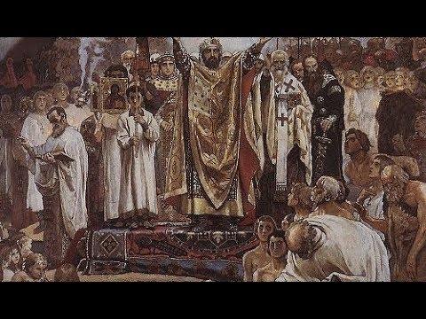 Как князь Владимир с иноземным войском Русь крестил.