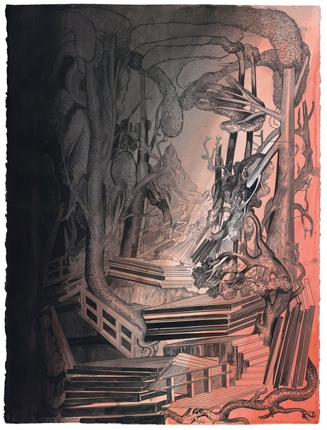 Susanne ühn (1969, Germany). Графика.