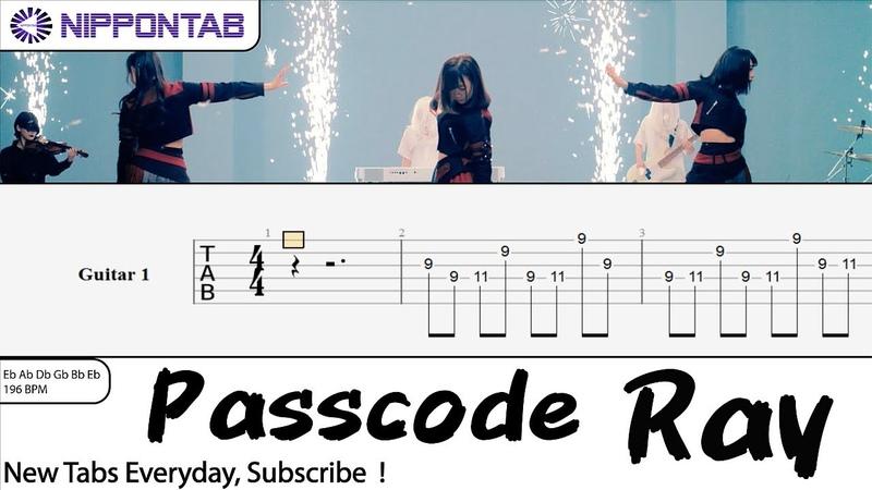 【Guitar TAB】〚Passcode〛Ray ギター tab譜