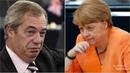 She's MISERABLE Nigel Farage LOSES TEMPER on Angela merkel She won't like this