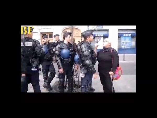 Une femme âgé se fait traiter de S.... par la police