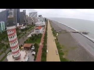 Вид на Батумский Бульвар с птичьего палета (целиком) _ Batumi Boulevard Skye vie