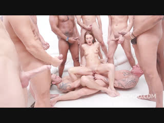 [legal ass]timea bella 15-man anal gangbang with dap, piss drinking