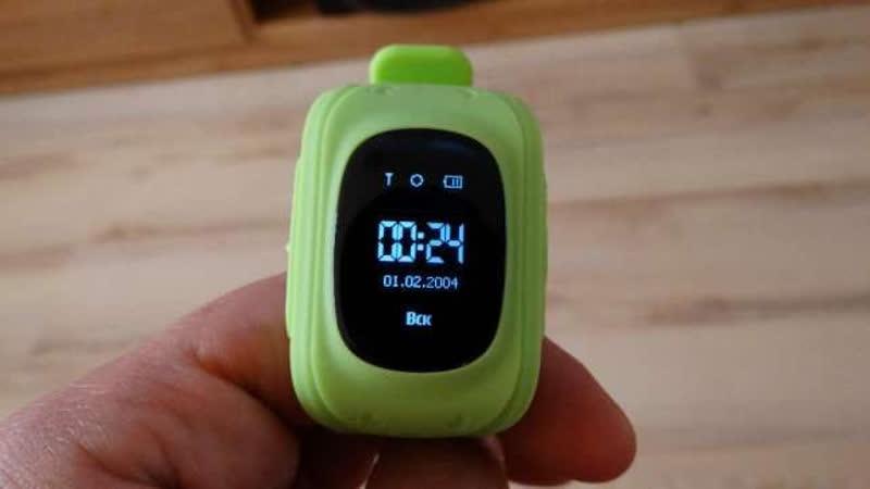 Зелененькие детские GPS часы Smart Baby Watch Q50