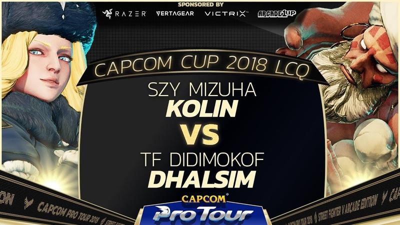 Mizuya (Kolin) vs Didimokof (Dhalsim) - Capcom Cup 2018 LCQ Top 8 - CPT2018