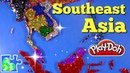 Southeast Asia Map for Kids: Super Fun Educational Play-Doh Puzzle!