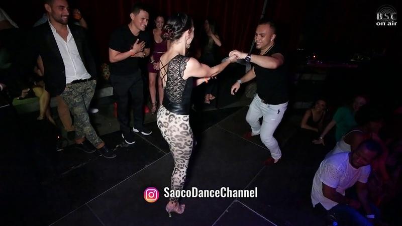 Jhon Araujo and Nerea Perez Rincon Salsa Dancing at Berlin Salsacongress 2018 Monday night 08 10 2018