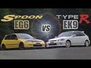 [ENG CC] Spoon Civic EG6 B18C vs. Civic Type R EK9 B16B in Ebisu 1998