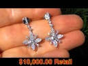 GORGEOUS 2.01 Carat Untreated Natural Diamond Earrings Solid 18K Gold - Don't Miss Out!