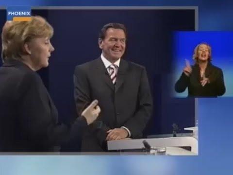 Schröder gegen Merkel - TV-Duell 2005