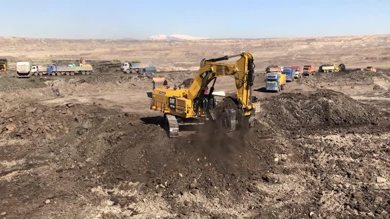 Cat 6015B Excavator Loading Trucks 30 Minutes Moovie - Sotiriadis Brothers
