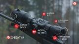 ATN X-Sight 4K BuckHunter - Smart Ultra HD Daytime Hunting Rifle Scope with camera