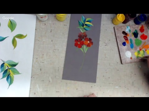 Курс урало-сибирской росписи. Урок 2. Часть 2. сложные моменты в росписи листьев.