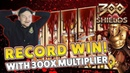 RECORD WIN 300 shields with 300x - Casino Games with EPIC REACTIONS