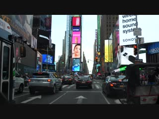 Driving New York City Times Square - 7th ave, 08_01_2018