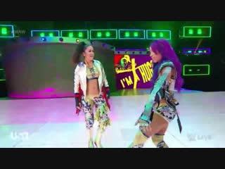 Bayley & sasha banks vs ronda rousey & natalya