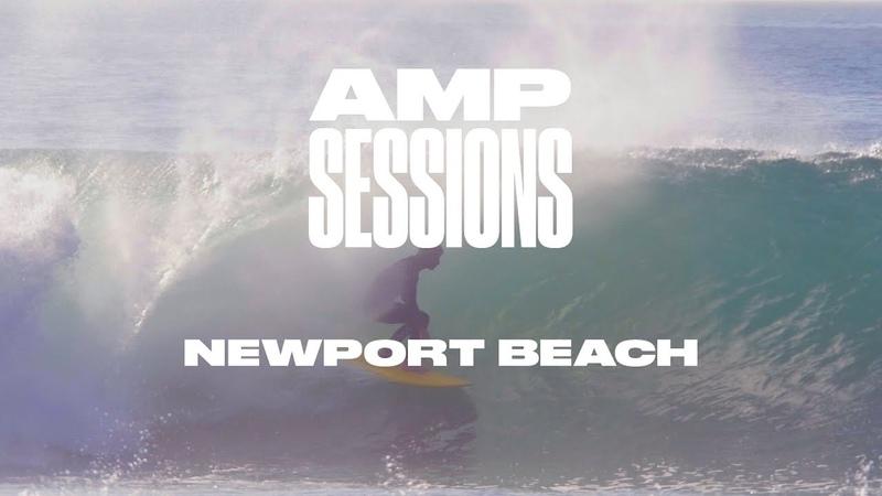 Joel Tudor and Local Crew Tap into Hurricane Rosa in Newport | Amp Sessions | SURFER