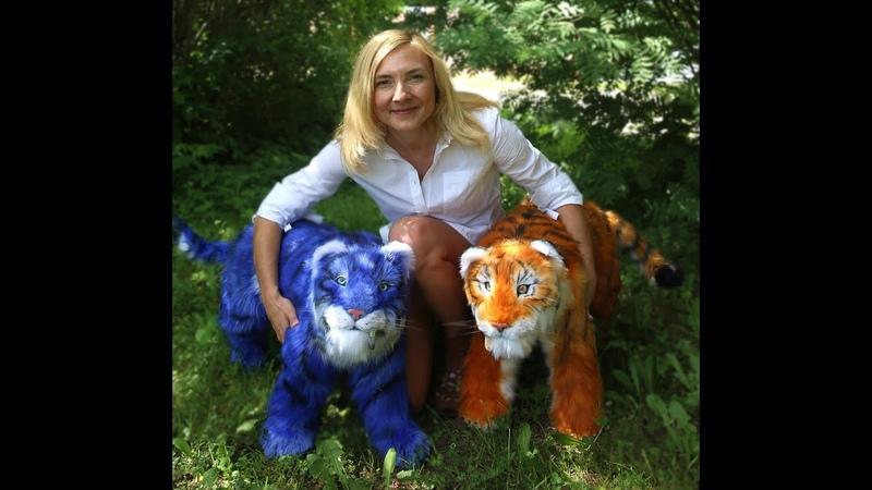 Саблезубые тигрята Лед и пламя John and Daenerys Реалистичные подвижные игрушки ручной работы