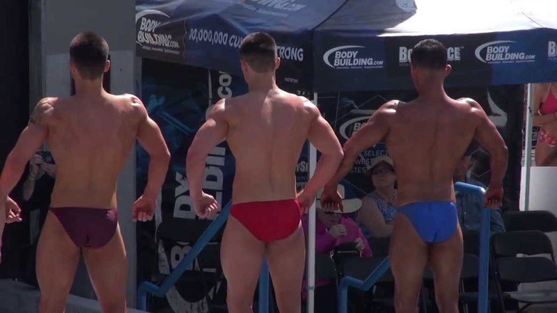 Teen Bodybuilders at Muscle Beach on Memorial Day 2013