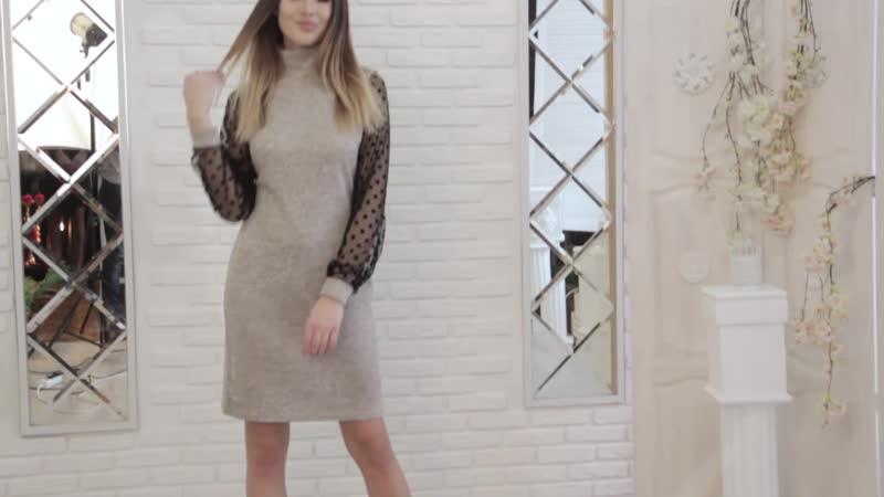 Платье из ткани трикотаж сандра.