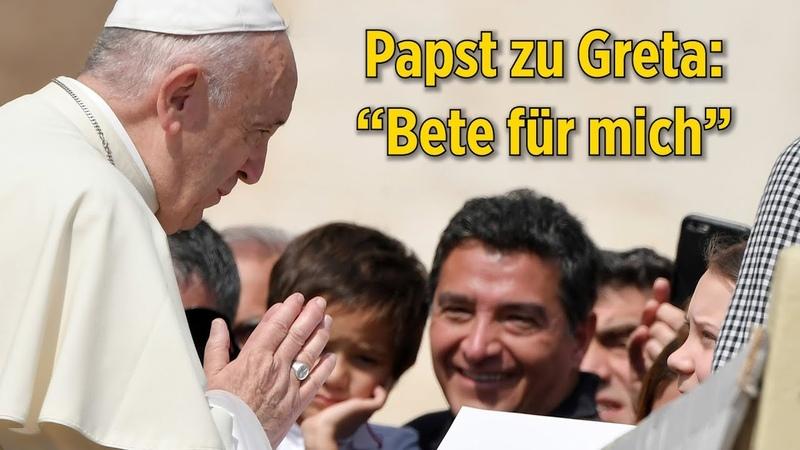 """Papst Franziskus bittet Greta Thunberg in Rom: """"Bete für mich"""""""