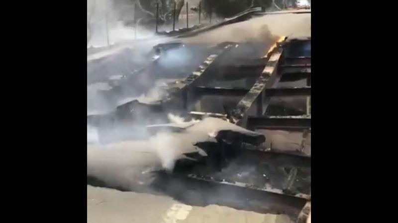Malibu Steel Bridge Anomaly Fire Close Ups