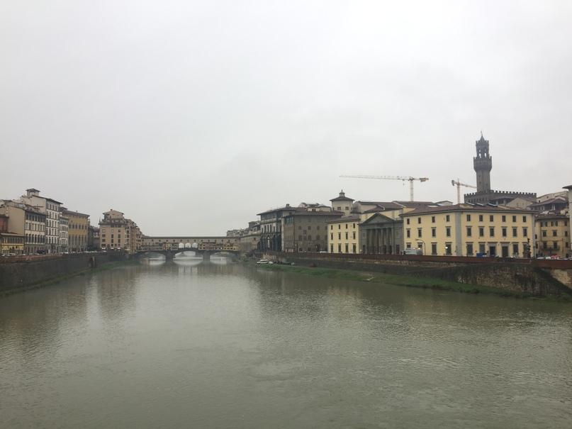 Приключения во Флоренции. Флоренция, вид на Понте Веккьо