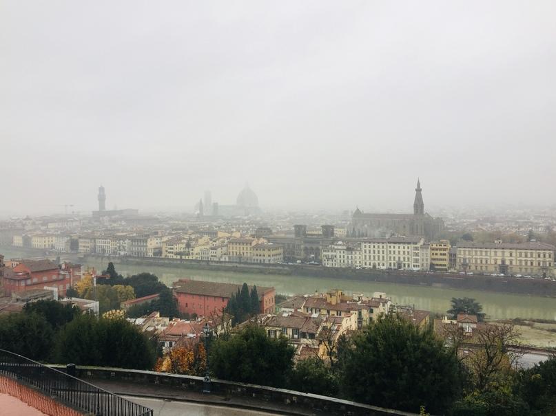 Приключения во Флоренции. Вид на Флоренцию с площади Микелланжело