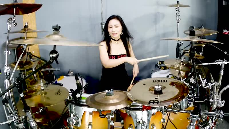 Iron Maiden - Wasted Years drum cover by Ami Kim (55)