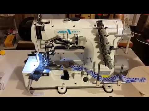 Распошивальная Джек Jack 8569-364 окантовочная, беечная Sewing machine Швейная машина