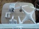 квадрокоптер zyma x8 pro сьемка с камеры H9R EKEN 4K