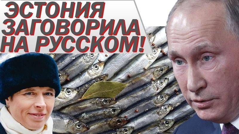 Президент Эстонии заговорила на РУССКОМ! Россuя С0ЖГЛА 72 тонны кильки!