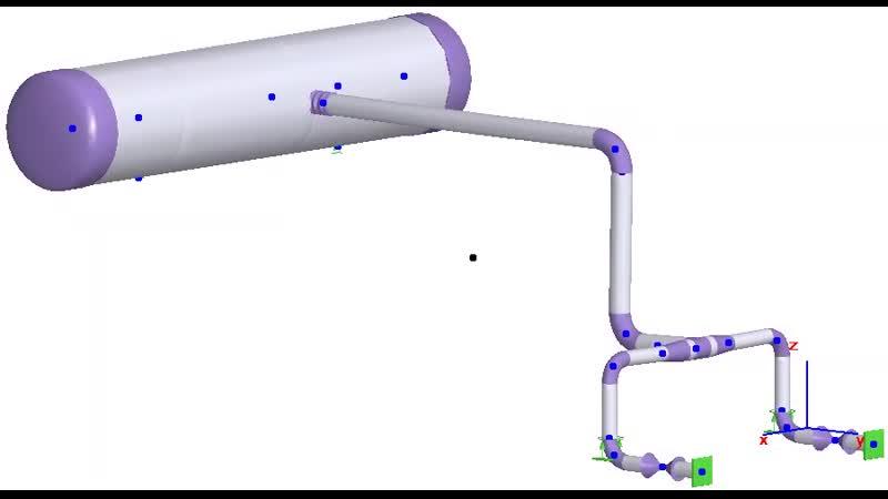 Моделирование горизонтальных аппаратов с учетом общей и местной податливости штуцера в СТАРТ ПРОФ