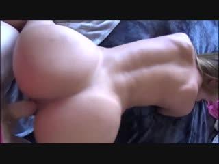 Опытная дама трахает молодого парня pov sex fuck doggy ass tit boob cum orgasm milf mom mature old young son hip (hot&horny)