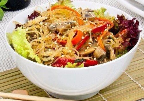 Самые вкусные блюда с рисовой лапшой.