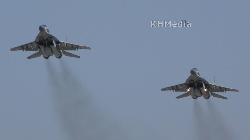 Взлёт парой МиГ-29СМТ Кубинка 2018