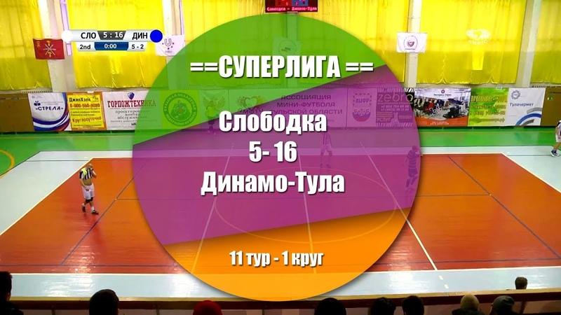 Слободка - Динамо-Тула 5:16 (1:5) Обзор матча - 11 тур СуперЛига АМФТО