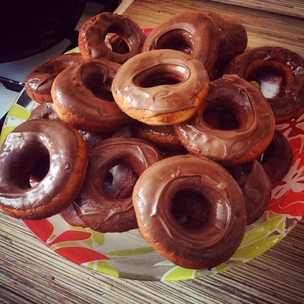 Пышные, нежные шоколадные пончики!