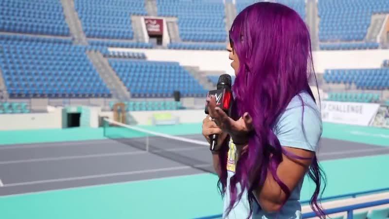 SBMKV Video Саша Бэнкс посетила арену на которой она с Алексой Блисс провели исторический матч в ОАЭ
