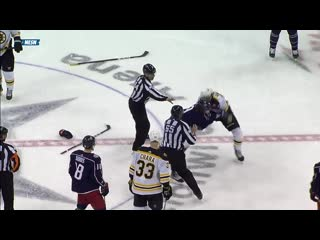 Artemi panarin  charlie mcavoy drop the gloves for good fight