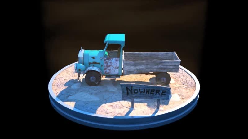 Кураж трусливый пёс 3D Модель Машины Юстаса