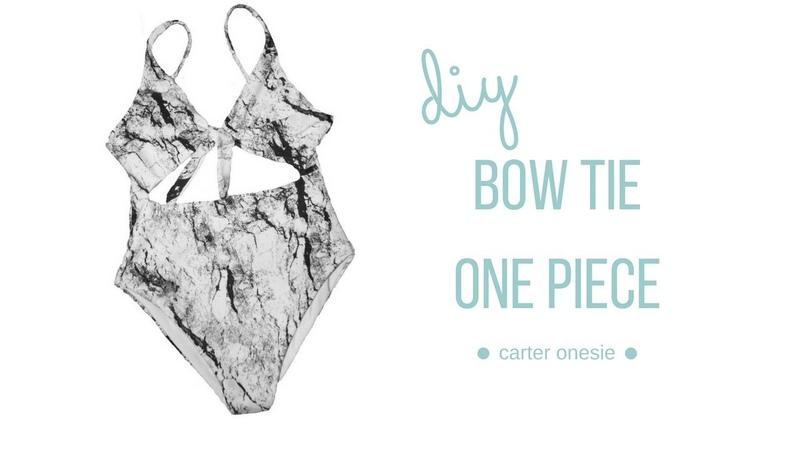 DIY Bow Tie One Piece - Carter Onesie || Katie Fredrickson