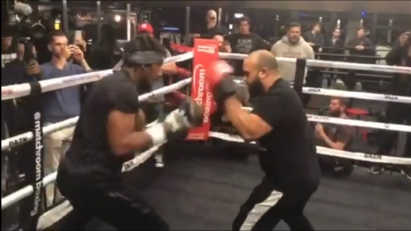 DEMETRIUS ANDRADE SHOWS BLISTERING SPEED *FULL COMPLETE* PUBLIC WORKOUT BOSTON
