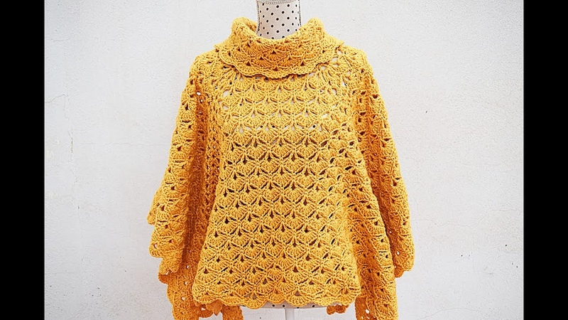 Poncho or coat of woman to crochet MAJOVEL very easy and fast crochet ganchillo easy